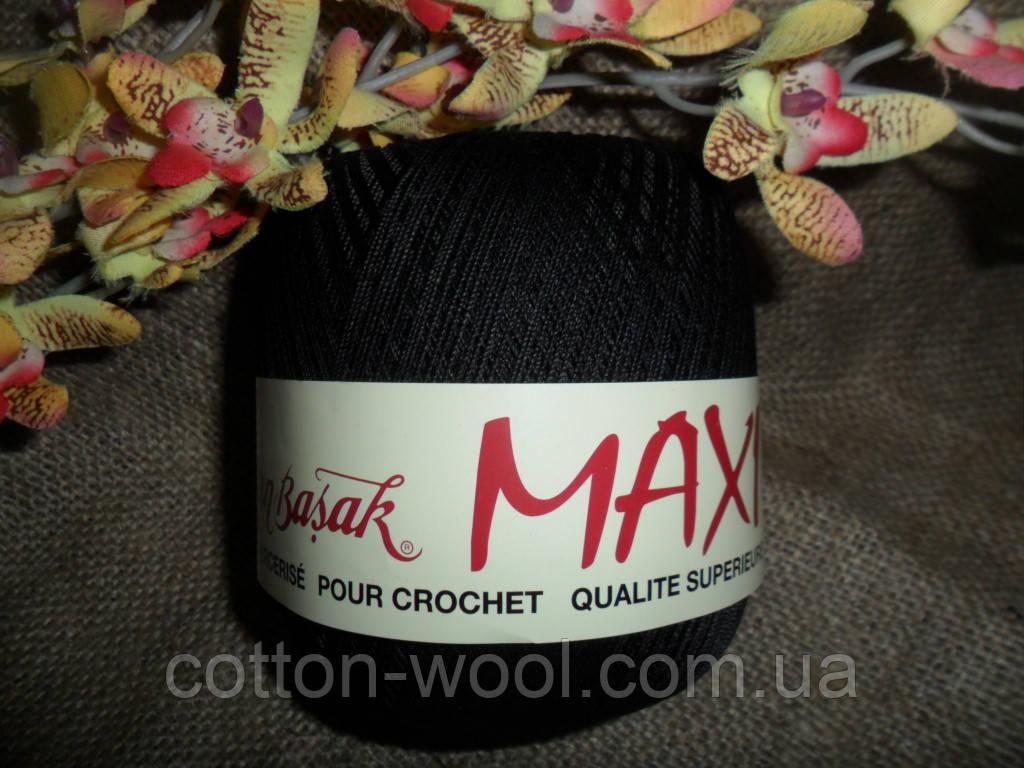 Maxi (макси) 100% мерсеризованный хлопок черный