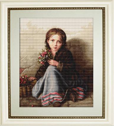 """Набор для вышивания нитками  """"Портрет девочки"""", фото 2"""