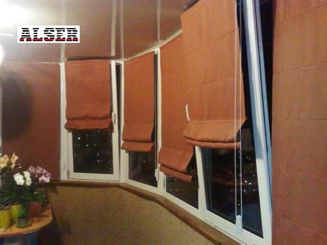 Римские шторы на балкон, лоджию, в квартиру.
