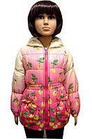 Демисезонная куртка для девочки ягодка
