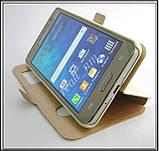 Золотистый чехол-книжка DW Case для смартфона Samsung Galaxy Grand Prime G531H G530H, фото 4