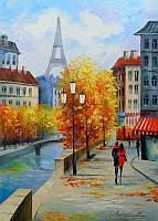 «Осень в Париже» картина маслом