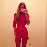 """Комбез женский с шортами""""Ред"""",модные костюмы"""