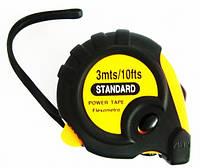 Рулетка стандарт с магнитом 3м