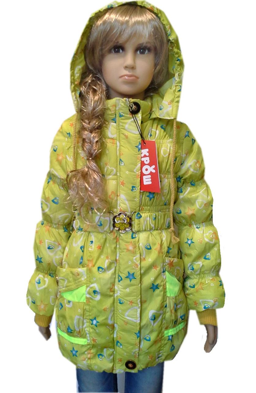 Куртка осенняя для девочки недорого КРОШ