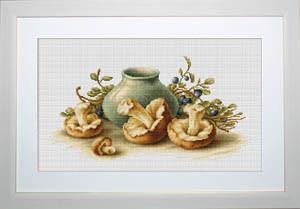 """Набор для вышивания нитками  """"Натюрморт с грибами"""""""