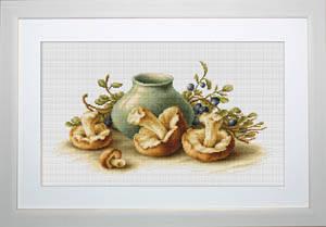 """Набор для вышивания нитками  """"Натюрморт с грибами"""", фото 2"""