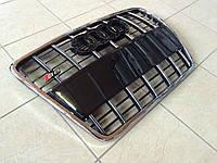 Решетка радиатора S-Line на Audi A6 2008-2012 (черная с хром окантовкой)