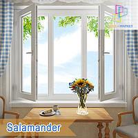 """Пластиковое трехстворчатое окно Salamander 2D Euro 1800x1400 """"Окна Маркет"""""""