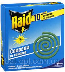 Спирали Raid от комаров (10шт)