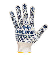 Перчатки DOLONI №520 Х/Б Белые 10 класс UNIVERSAL/Универсальные