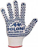 Перчатки DOLONI №547 Х/Б Белые 7 класс STANDART/Стандартные