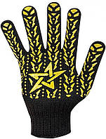 Перчатки DOLONI №562 Х/Б Черные 7 класс Звезда                                                      , фото 1