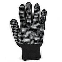 Перчатки микроточка, черные (12пар)