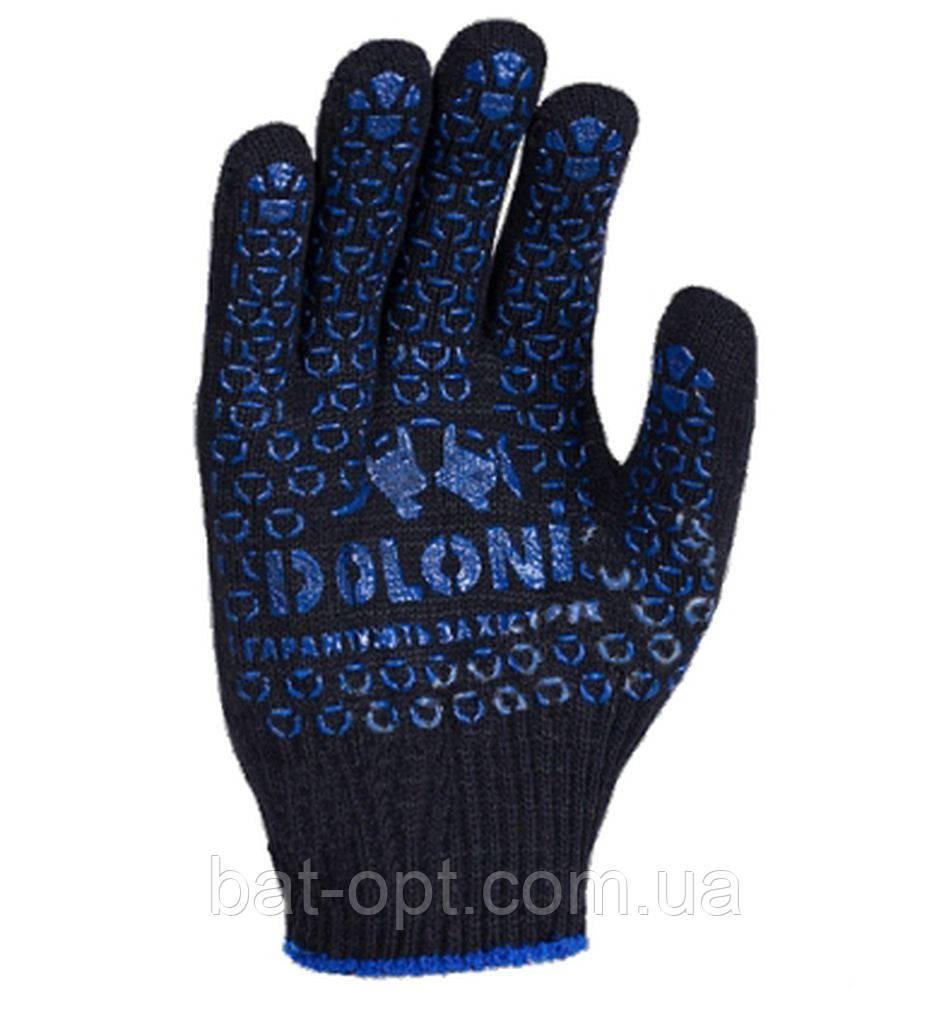 Перчатки рабочие DOLONI №667 Х/Б Черные размер 10