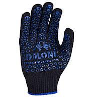Перчатки рабочие DOLONI №667 Х/Б Черные размер 10 , фото 1