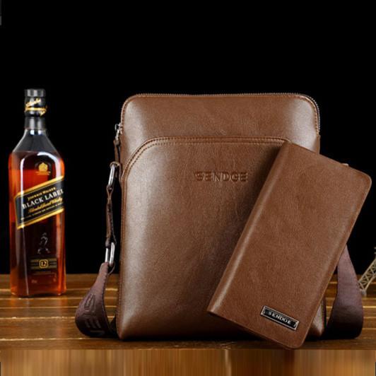 Стильная мужская кожаная сумка. Модель 04179