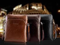 Стильная мужская кожаная сумка. Модель 04179, фото 4