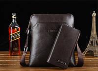Стильная мужская кожаная сумка. Модель 04179, фото 3