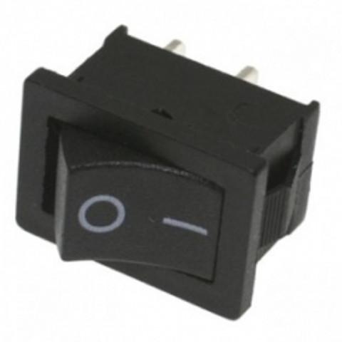Переключатель двухпозиционный LSW08 малый чёрный 6A Код.58591