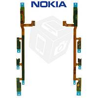 Шлейф для Nokia Lumia 1020, кнопки включения, боковых клавиш, с компонентами, оригинал