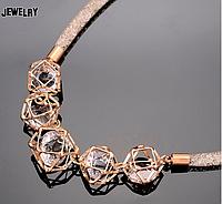 Ожерелье «кристаллы в сетке»