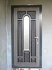 Металлические двери со стеклопакетом, фото 2