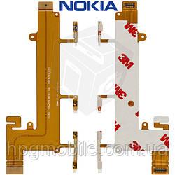 Шлейф для Nokia Lumia 1320, кнопки включения, боковых клавиш, с компонентами, оригинал