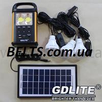 Портативный аккумулятор GD Light GD-8031 с солнечной панелью и светодиодными лампами (солнечная система GD 803, фото 1