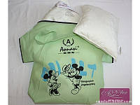 Детский набор шелк-сатин: подушка + одеяло
