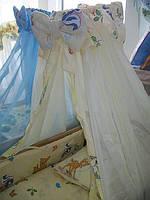 """Фирменный комплект постельного белья 8 предметов """"Олененок Бемби"""" бежевый"""
