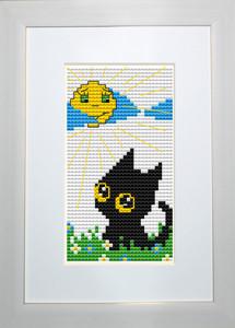 """Набор для вышивания нитками  """"Кот и день"""""""
