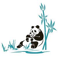 Виниловая Наклейка Glozis на прозрачной основе Panda 130х120 см
