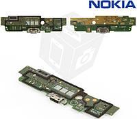 Шлейф для Nokia Lumia 1320, коннектора зарядки, с микрофоном, с компонентами, оригинал