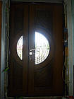 Металлические двери жатка со стеклопакетом и ковкой, фото 3