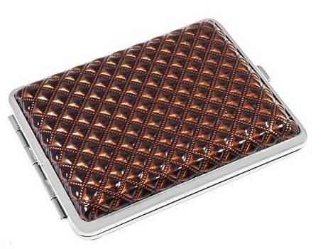 Стильный портсигар Alkazar 340021-13 коричневый