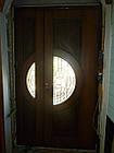 Металлические двери жатка со стеклопакетом и ковкой, фото 4