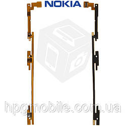 Шлейф для Nokia Lumia 1520, кнопки включения, боковых клавиш, с компонентами, оригинал