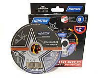 Круги отрезные по металлу и нержавейке Norton Star line 115x1.0 упак. 10 шт.