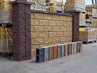 Полублоки декоративные УГЛОВЫЕ для заборов «Цветные»