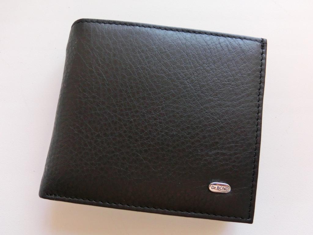 Мужской кожаный кошелек. Удобное портмоне Dr.Bond. Стильный кошелек из натуральной кожи. Код: КТМ231.