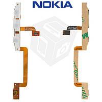 Шлейф для Nokia Lumia 800, боковых клавиш, кнопки камеры, с компонентами, оригинал