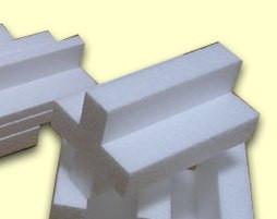 Упаковка из пенопласта: профиль т - образный.