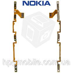 Шлейф для Nokia Lumia 830 (RM-983,984), кнопки включения, боковых клавиш, с компонентами, оригинал