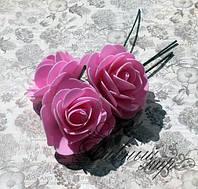 Голова розы из латекса 5,5-6,5 см на ножке