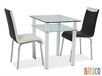 Стеклянный стол Signal  Sono 80x60
