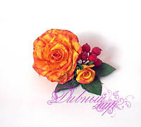 1310-заколка с цветами