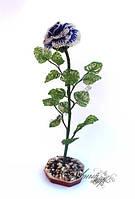 1334-цветок из бисера роза
