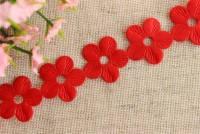 """Ажур """"Цветок"""" 2см, красный"""