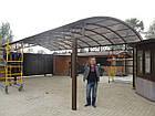 Навес металлический прозрачный (поликарбонат), фото 3